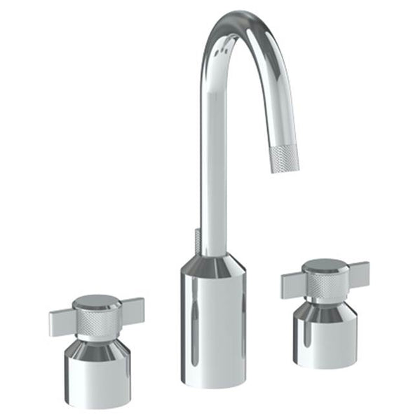 Watermark 25-2GX-IN16 Urbane Deck Mounted 3 Hole Extended Lavatory Set With Gooseneck Spout