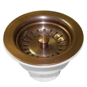 "Native Trails DR320-SC 3.5"" Basket Strainer Solid Copper"