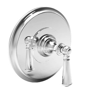 Newport Brass 4-2454BP Sutton Balanced Pressure Shower Trim Plate w/ Handle Less Showerhead Arm & Flange White