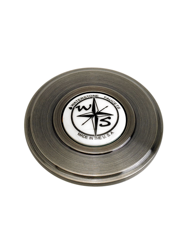 Waterstone 4070 Traditional Sink Hole Cover - Compass Button
