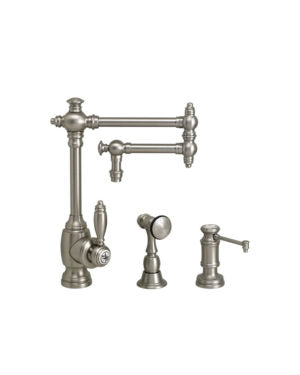 "Waterstone 4100-12-2 Towson Kitchen Faucet - 12"" Articulated Spout 2pc. Suite"