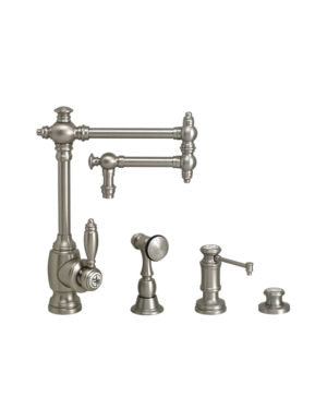 "Waterstone 4100-12-3 Towson Kitchen Faucet - 12"" Articulated Spout 3pc. Suite"