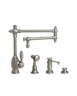 "Waterstone 4100-18-3 Towson Kitchen Faucet - 18"" Articulated Spout 3pc. Suite"