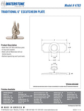 "Load image into Gallery viewer, Waterstone 4783 Traditional 6"" Escutcheon Base Plate"