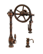 Load image into Gallery viewer, Waterstone 5100-2 Traditional The Wheel Pull Down Kitchen Faucet 2pc. Suite