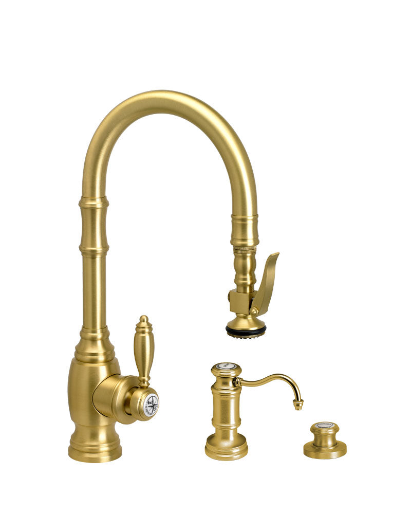 Waterstone 5200-3 Traditional Prep Size PLP Pulldown Faucet 3pc. Suite