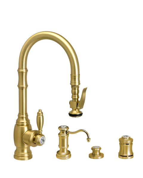 Waterstone 5200-4 Traditional Prep Size PLP Pulldown Faucet 4pc. Suite
