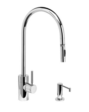 Waterstone 5300-2 Contemporary Extended Reach PLP Pulldown Faucet 2pc. Suite