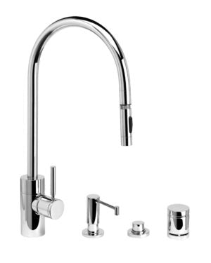 Waterstone 5300-4 Contemporary Extended Reach PLP Pulldown Faucet 4pc. Suite