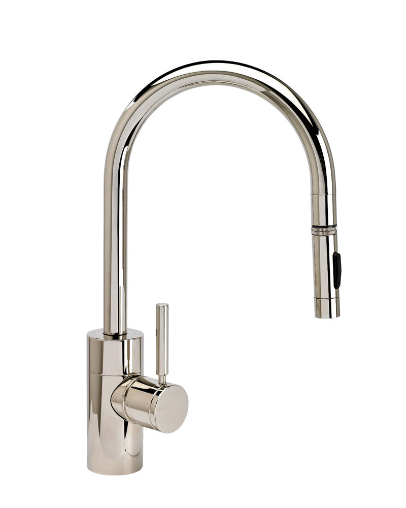 Waterstone 5410 Contemporary Standard Reach PLP Pulldown Angled Spout Faucet w/Toggle Sprayer