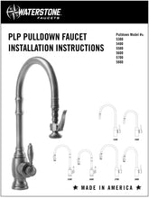 Load image into Gallery viewer, Waterstone 5700-4 Transitional Extended Reach PLP Pulldown Faucet - Lever Sprayer 4pc. Suite