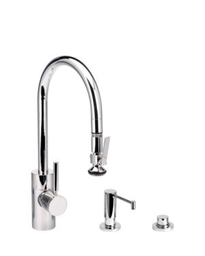 Waterstone 5800-3 Transitional PLP Pulldown Faucet Level Sprayer 3pc SuiteChoose Finish Above