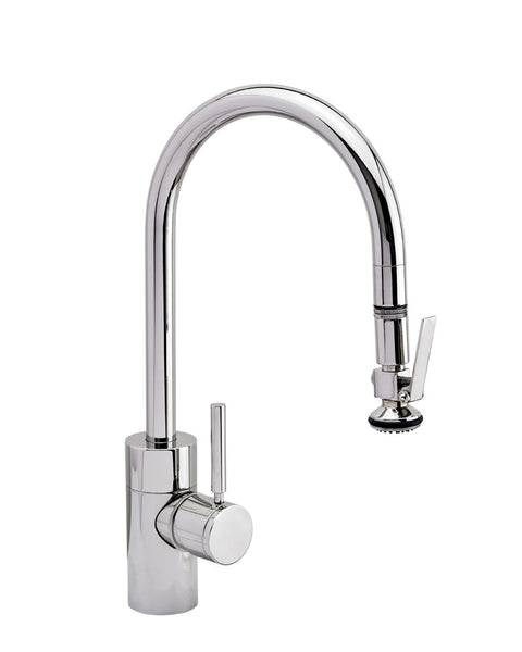 Waterstone 5800 Transitional Standard Reach PLP Pulldown Faucet - Level Sprayer