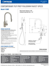 Load image into Gallery viewer, Waterstone 5900 Contemporary Prep Size PLP Pulldown Faucet
