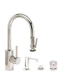 Waterstone 5930-4 Transitional Prep Size PLP Pulldown Faucet 4pc. Suite