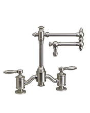 "Load image into Gallery viewer, Waterstone 6100-12 Towson Bridge Faucet w/12"" Articulated Spout - Lever Handles"