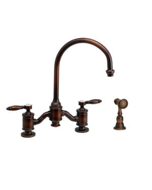 Waterstone 6300-1 Hampton Bridge Faucet - Lever Handles w/Side Spray