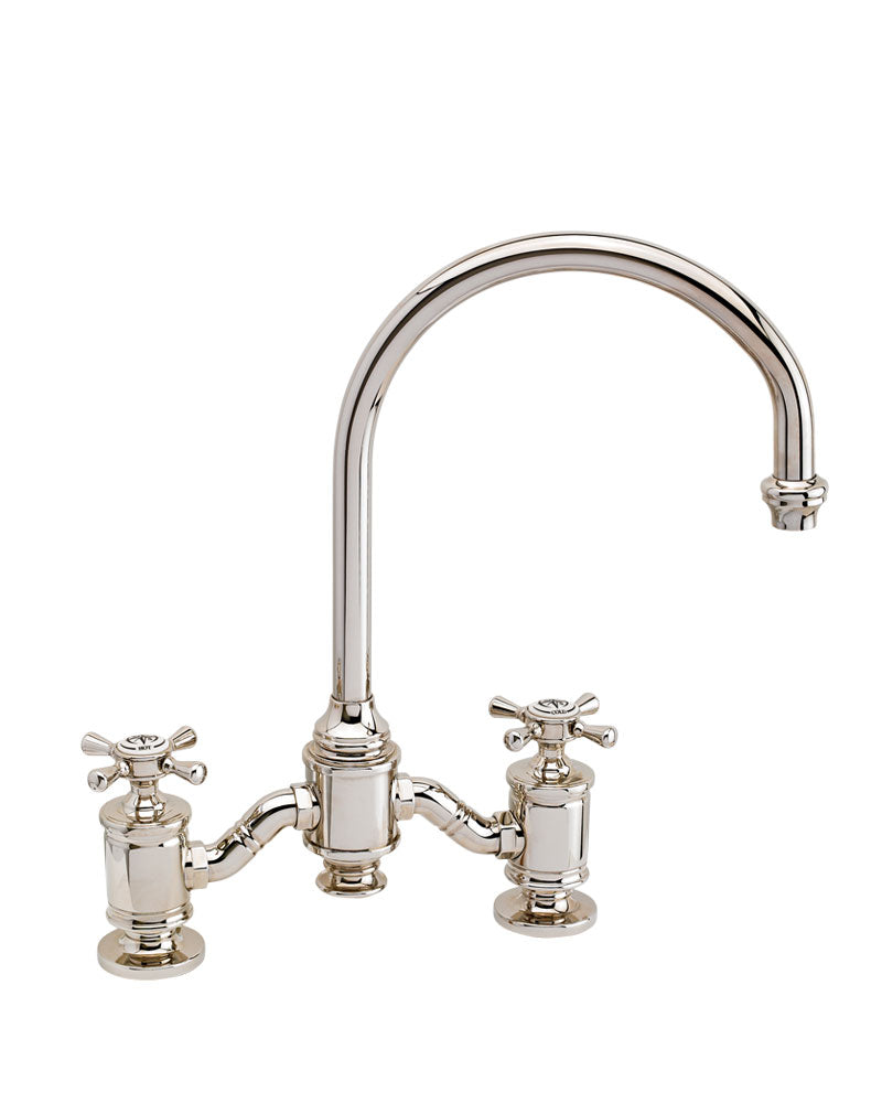 Waterstone 6350 Hampton Bridge Faucet - Cross Handles