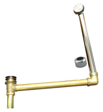 Load image into Gallery viewer, Westbrass 7932420HRDC Westbrass ABS/Brass Semi-Exposed Waste & Overflow with Tip-Toe Drain