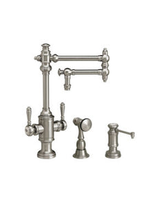 "Waterstone 8010-12-2 Towson Two Handle Kitchen Faucet - 12"" Articulated Spout 2pc. Suite"