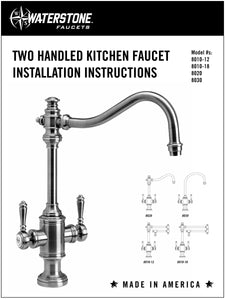 Waterstone 8030 Hampton Two Handle Kitchen Faucet