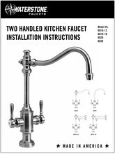 Load image into Gallery viewer, Waterstone 8030-1 Hampton Two Handle Kitchen Faucet w/Side Spray