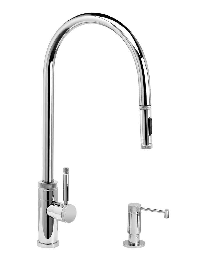 Waterstone 9300-2 Industrial Extended Reach PLP Pulldown Faucet w/Toggle Sprayer 2pc Suite