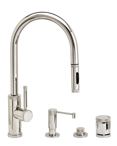 Waterstone 9400-4 Industrial PLP Pulldown Faucet w/Toggle Sprayer 4pc Suite
