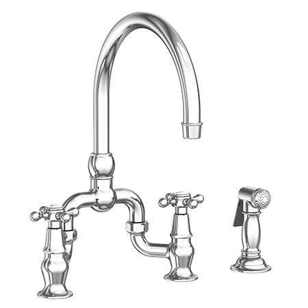 Newport Brass 9460 Chesterfield Kitchen Bridge Faucet With Side Spray