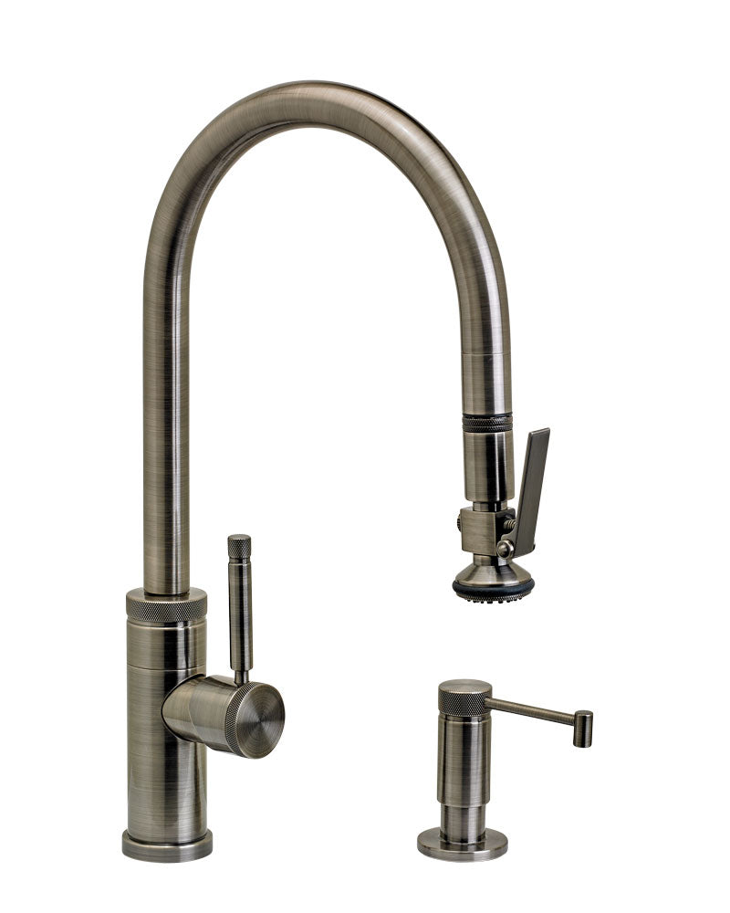 Waterstone 9800-2 Industrial PLP Pulldown Faucet w/Lever Sprayer 2pc Suite