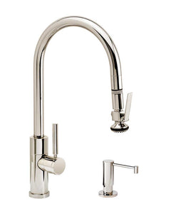Waterstone 9860-2 Modern PLP Pulldown Angled Spout Faucet 2pc Suite