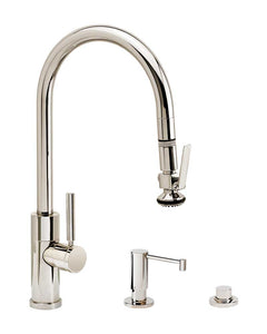 Waterstone 9860-3 Modern PLP Pulldown Angled Spout Faucet 3pc Suite