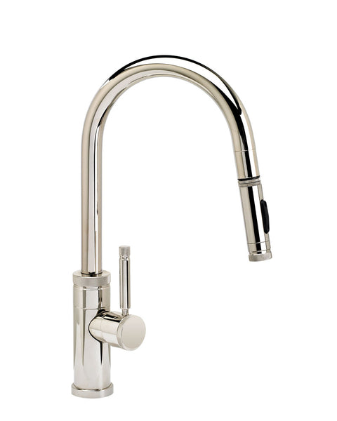 Waterstone 9910 Industrial Prep Size PLP Pulldown Angled Spout Faucet w/Toggle Sprayer