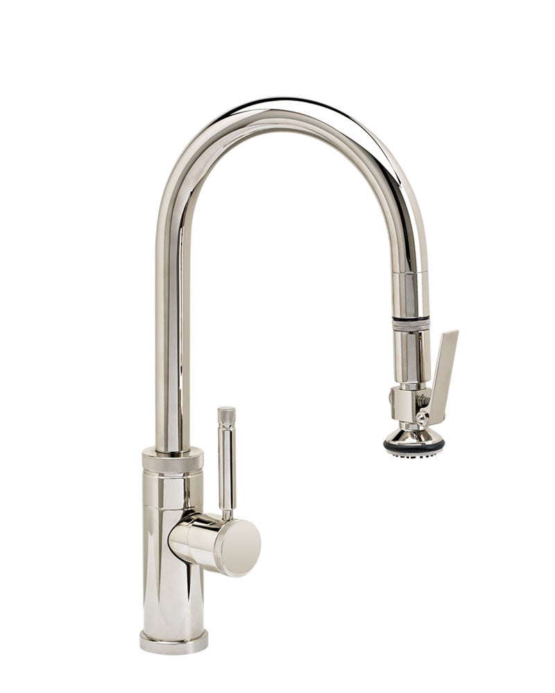 Waterstone 9930 Industrial Prep Size PLP Pulldown Faucet w/Lever Sprayer