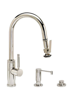 Waterstone 9940-3 Industrial Prep Size PLP Pulldown Angled Spout Faucet w/Toggle Sprayer 3pc Suite