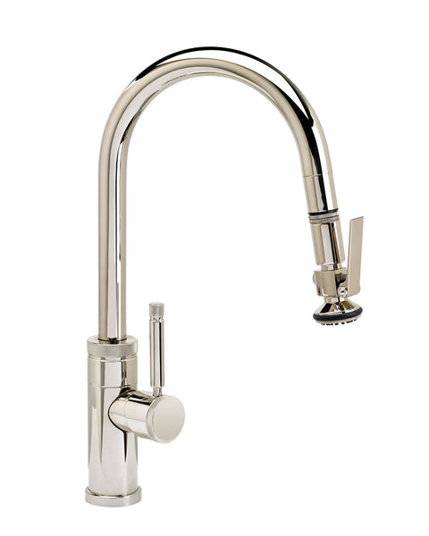 Waterstone 9940 Industrial Prep Size PLP Pulldown Angled Spout Faucet w/Toggle Sprayer