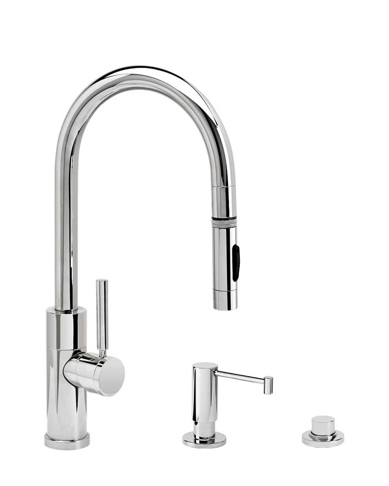 Waterstone 9950-3 Modern Prep Size PLP Pulldown Faucet 3pc Suite