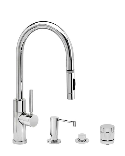 Waterstone 9950-4 Modern Prep Size PLP Pulldown Faucet 4pc Suite