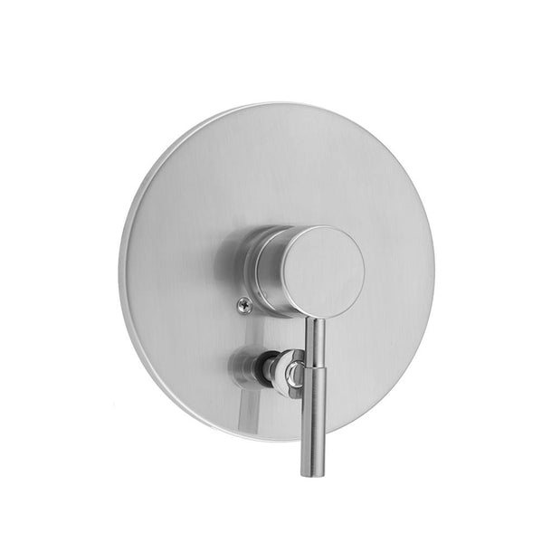 Jaclo A365-TRIM Round Plate With Round Contempo Lever Trim For Pressure Balance Cycling Valve With Built-in Diverter