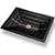 "Linkasink AG02C-04 River Large Rectangular 23"" x 15"" x 4"" Undermount Sink Black Glass with Accent"
