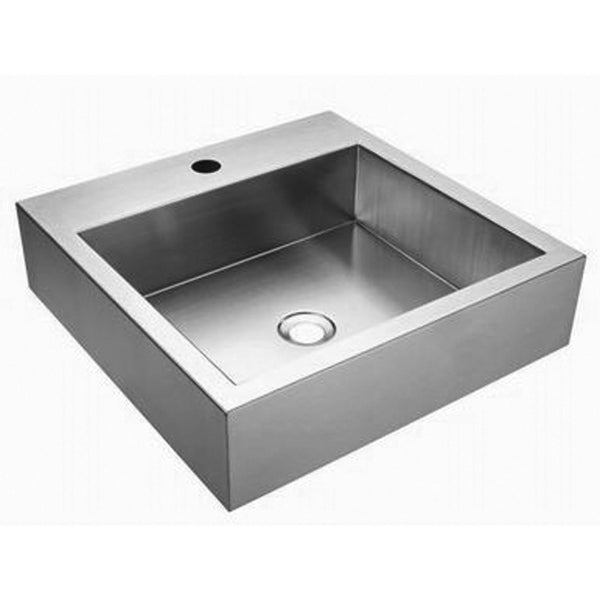 Fluid ASC1818-X Single Bowl Stainless Steel Lavatory Sink Stainless Steel