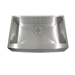 "Nantucket Sinks Apron332010-16 33"" Pro Series Single Bowl Farmhouse Apron Front Stainless Steel Kitchen Sink"