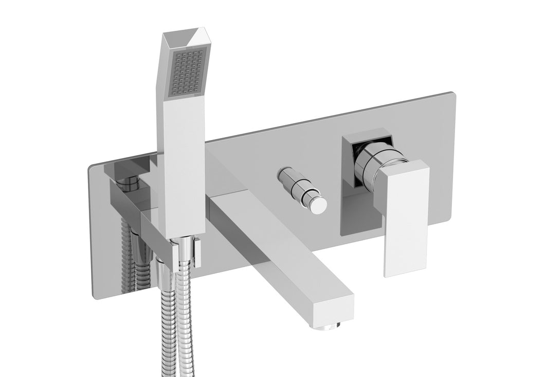 BARiL B05-2000-PB Rec Pressure Balanced Wall-Mounted Tub Faucet With Hand Shower