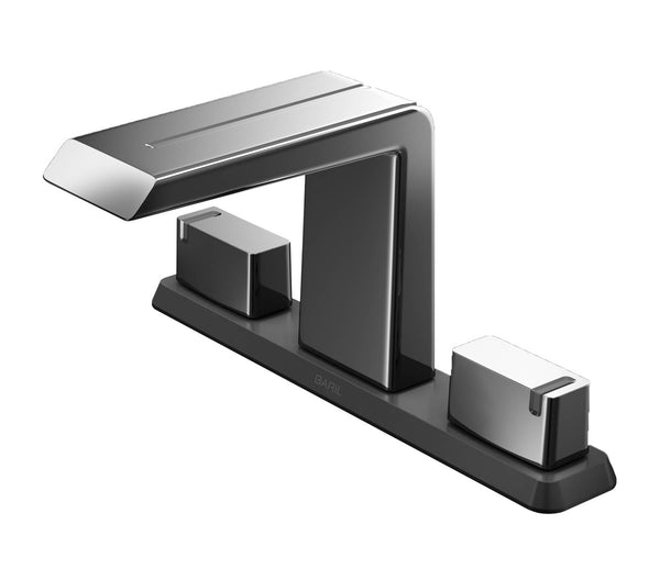 "BARiL B50-8009-1PL Ms 8"" Widespread Lavatory Faucet, Drain Included"