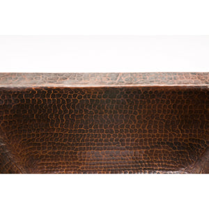 "Premier Rectangle Copper Bar Sink W/  2"" Drain Size BRECDB2"