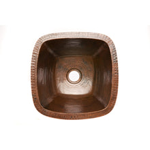 "Load image into Gallery viewer, Premier 15"" Hammered Copper Bar/Prep Sink W/  2"" Drain BS15DB2"