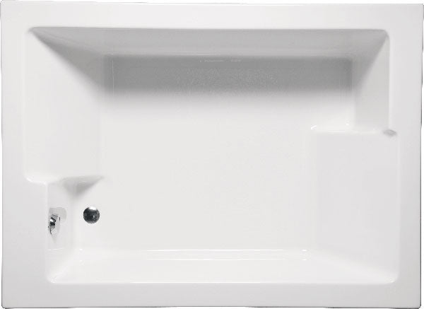 "Americh CF7260PA2 Confidence 72"" x 60"" Drop In Platinum Combo 2 Tub"