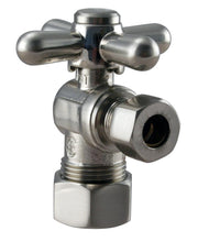 Load image into Gallery viewer, Westbrass D105BX Angle Stop, 5/8 in. OD x 3/8 in. OD - 1/4-Turn Cross Handle