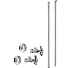 Load image into Gallery viewer, Westbrass D105KBNX Faucet Kit - 5/8 in. OD x 3/8 in. OD x 20 in. Bullnose
