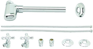 Westbrass D1938L European Pedestal Lavatory Kit - Cross Handles